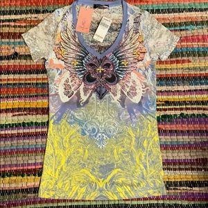 Angels & diamonds xl the buckle tee new tags